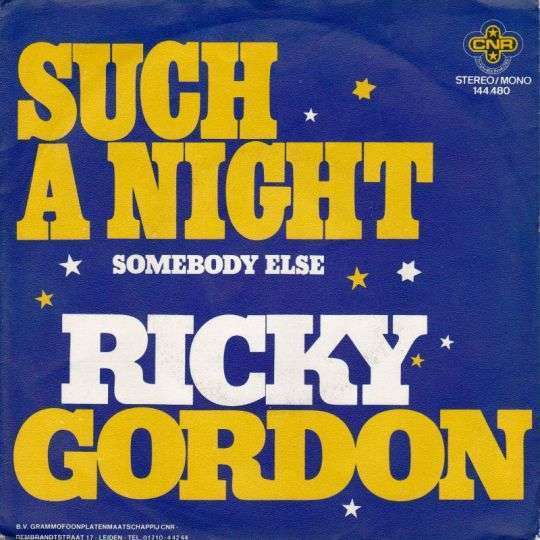 Coverafbeelding Ricky Gordon - Such A Night