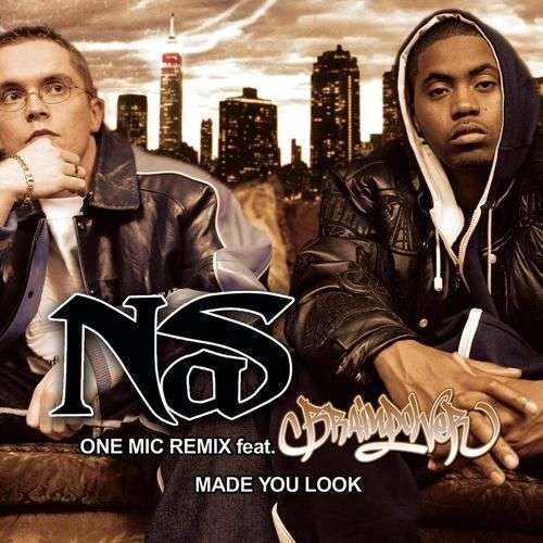 Coverafbeelding One Mic Remix/ Made You Look - Nas Feat. Brainpower/ Nas