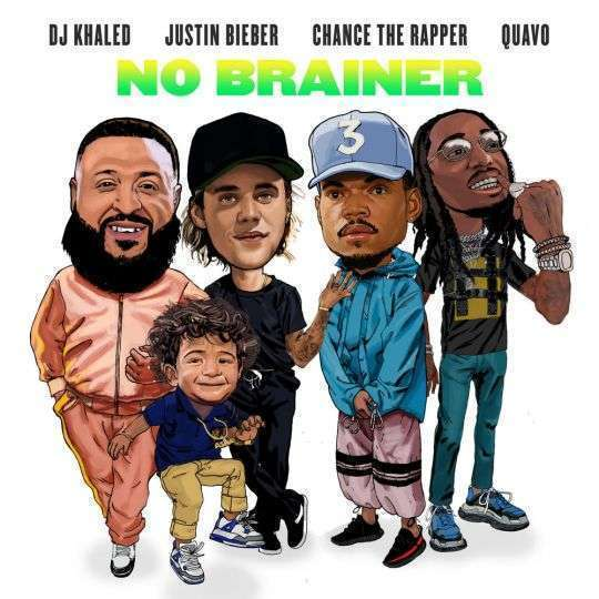 Coverafbeelding DJ Khaled & Justin Bieber & Chance The Rapper & Quavo - No brainer