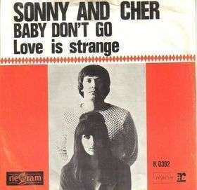 Coverafbeelding Baby Don't Go - Sonny And Cher