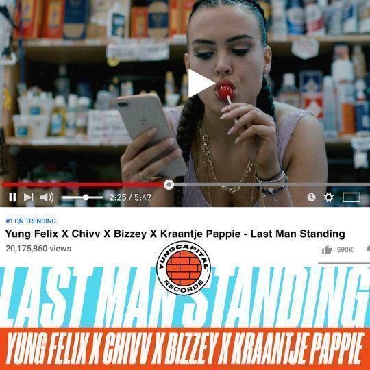 Coverafbeelding Yung Felix x Chivv x Bizzey x Kraantje Pappie - Last Man Standing