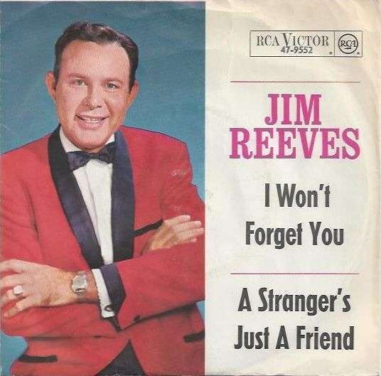 Coverafbeelding I Won't Forget You - Jim Reeves