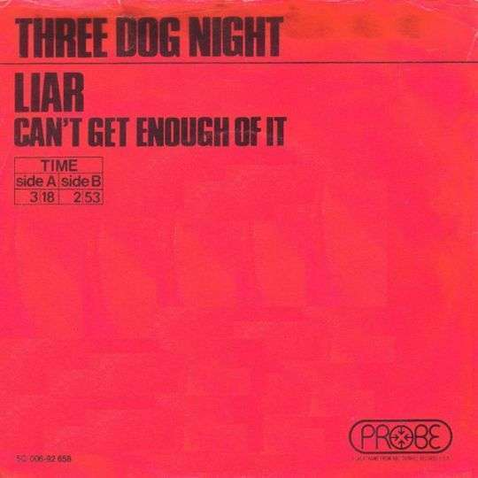 Coverafbeelding Liar - Three Dog Night