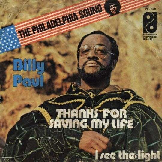 Coverafbeelding Thanks For Saving My Life - Billy Paul