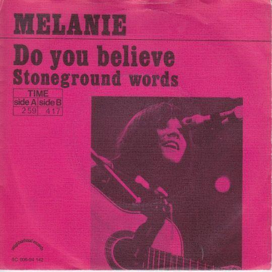 Coverafbeelding Do You Believe - Melanie