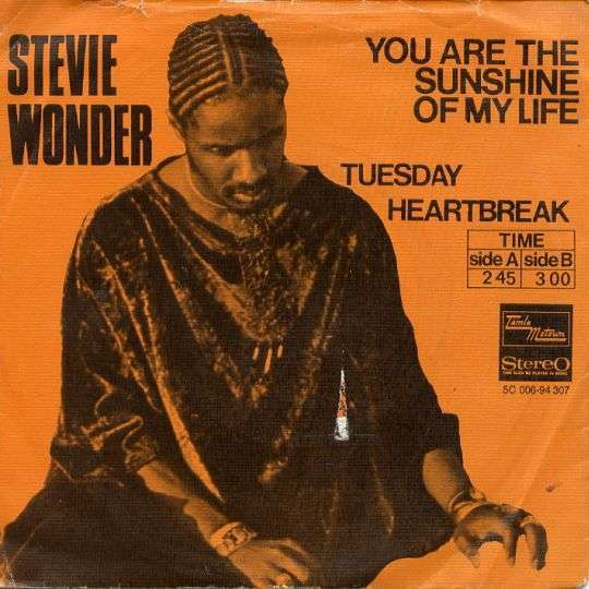 Coverafbeelding You Are The Sunshine Of My Life - Stevie Wonder