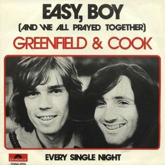 Coverafbeelding Easy, Boy (And We All Prayed Together) - Greenfield & Cook