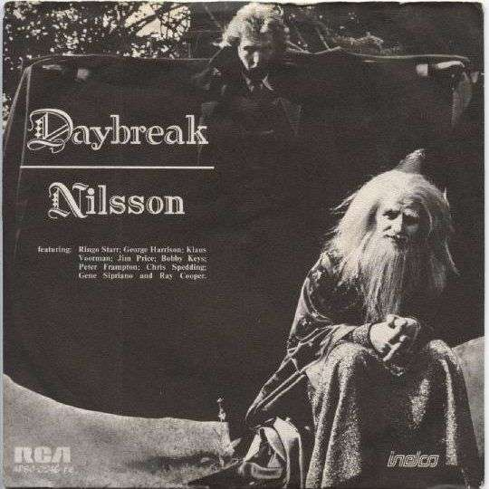 Coverafbeelding Daybreak - Nilsson Featuring: Ringo Starr, George Harrison, Klaus Voorman, Jim Price, Bobby Keys, Peter Frampton, Chris Spedding, Gene Sipriano And Ray Cooper