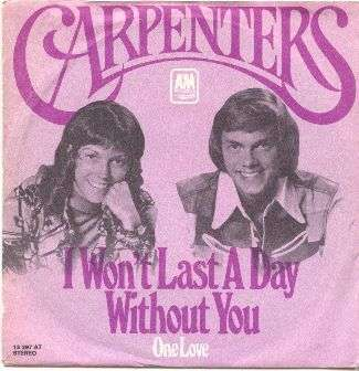 Coverafbeelding I Won't Last A Day Without You - Carpenters