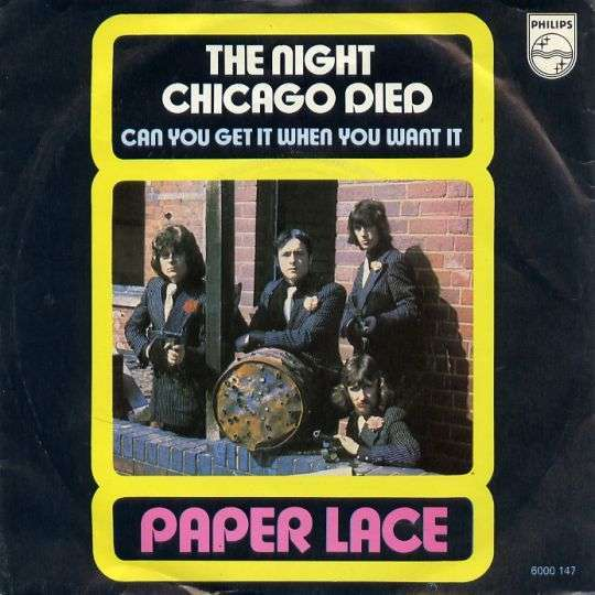 Coverafbeelding The Night Chicago Died - Paper Lace