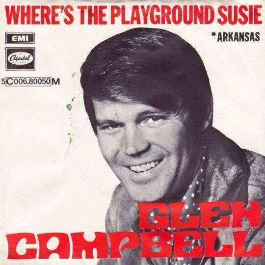 Coverafbeelding Where's The Playground Susie - Glen Campbell
