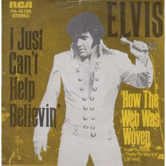Coverafbeelding I Just Can't Help Believin' - Elvis