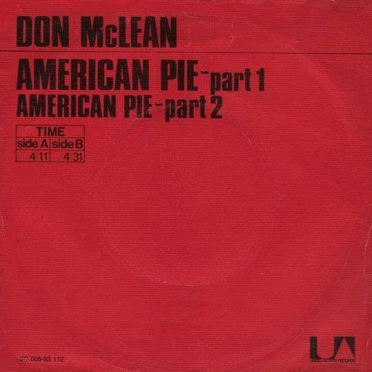 Coverafbeelding American Pie - Don Mclean