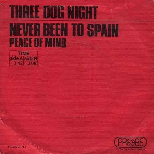 Coverafbeelding Never Been To Spain - Three Dog Night