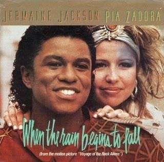 Coverafbeelding When The Rain Begins To Fall - Jermaine Jackson & Pia Zadora