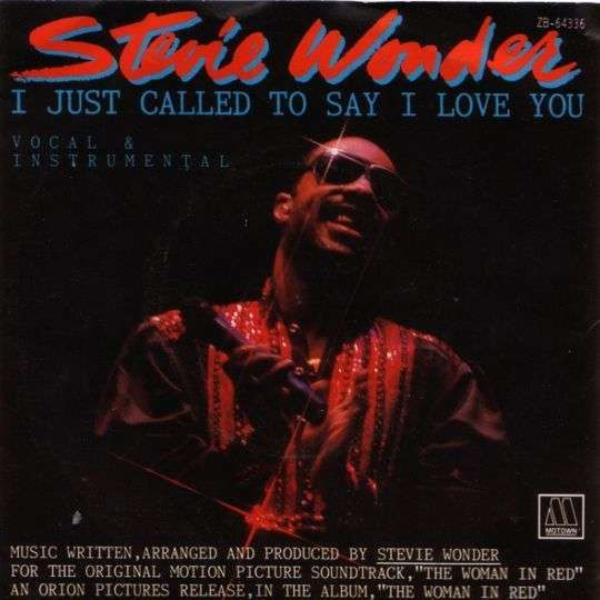 Coverafbeelding I Just Called To Say I Love You - Stevie Wonder