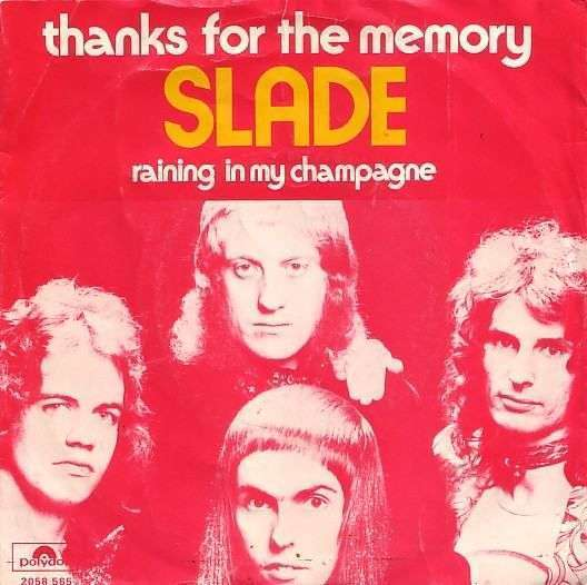 Coverafbeelding Thanks For The Memory - Slade