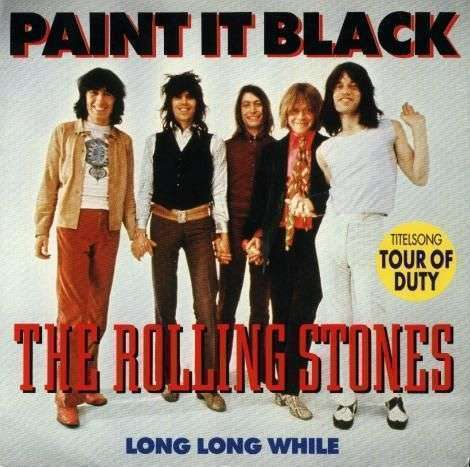 Coverafbeelding Paint It, Black ((1966)) / Paint It Black - Titelsong Tour Of Duty ((1990)) - The Rolling Stones