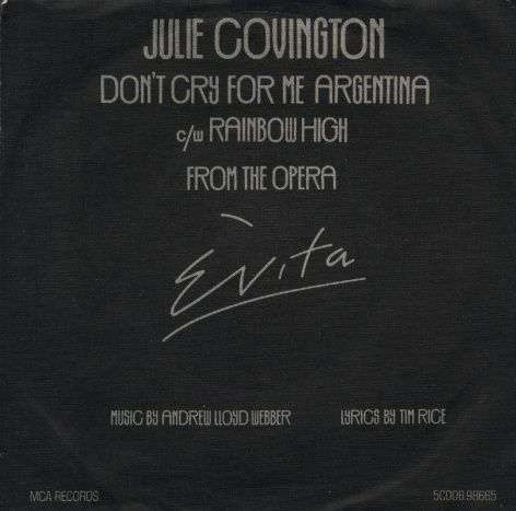 Coverafbeelding Don't Cry For Me Argentina - Julie Covington