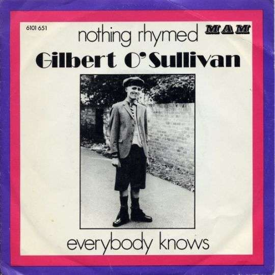 Coverafbeelding Nothing Rhymed - Gilbert O'sullivan