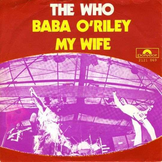 Coverafbeelding Baba O'riley - The Who
