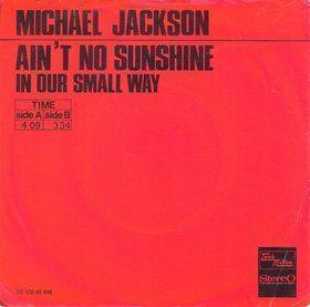 Coverafbeelding Ain't No Sunshine - Michael Jackson