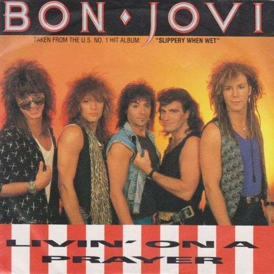 Coverafbeelding Livin' On A Prayer - Bon Jovi