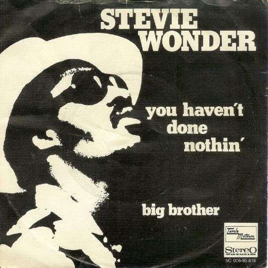 Coverafbeelding You Haven't Done Nothin' - Stevie Wonder