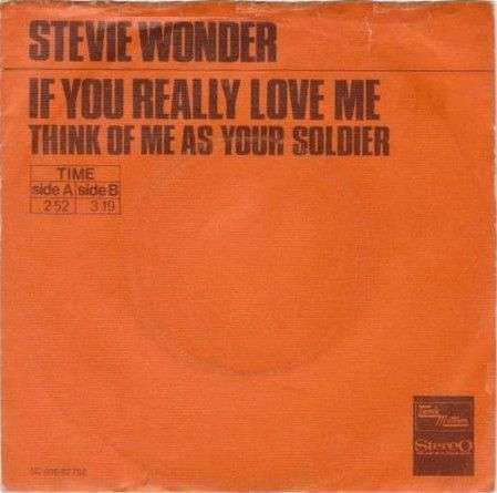 Coverafbeelding If You Really Love Me - Stevie Wonder