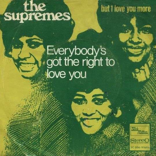 Coverafbeelding Everybody's Got The Right To Love You - The Supremes