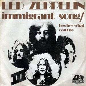 Coverafbeelding Immigrant Song - Led Zeppelin