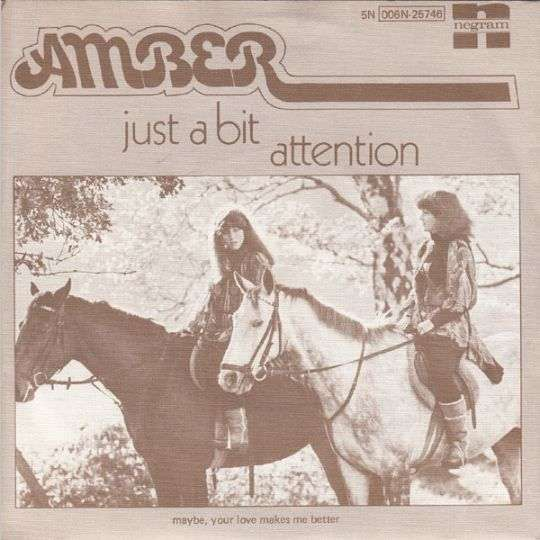 Coverafbeelding Just A Bit Attention - Amber ((1977))