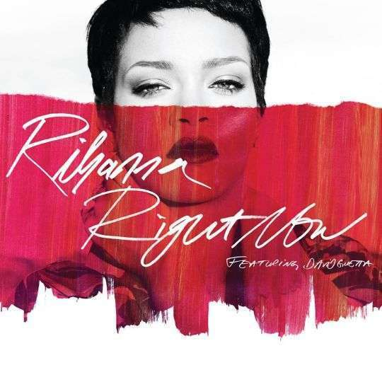 Coverafbeelding rihanna featuring david guetta - right now