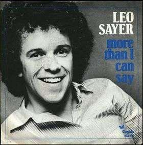 Coverafbeelding More Than I Can Say - Leo Sayer