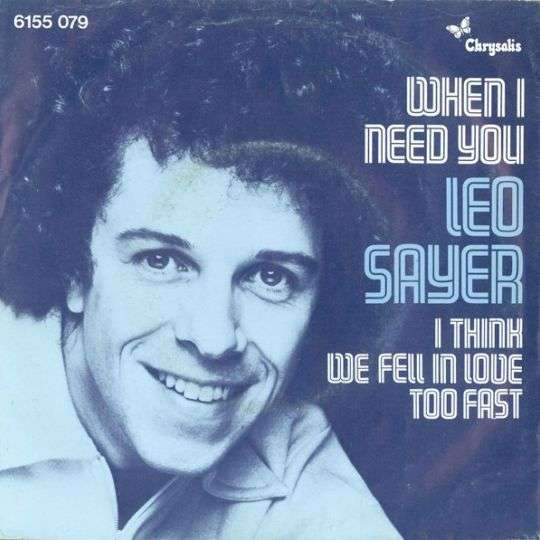 Coverafbeelding Leo Sayer - When I Need You