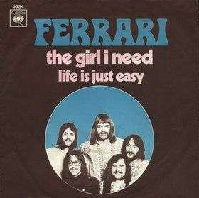 Coverafbeelding The Girl I Need - Ferrari