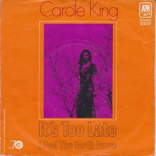 Coverafbeelding It's Too Late - Carole King