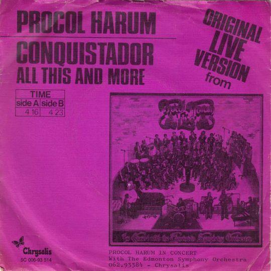 Coverafbeelding Conquistador - Procol Harum