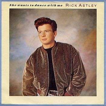 Coverafbeelding Rick Astley - She Wants To Dance With Me