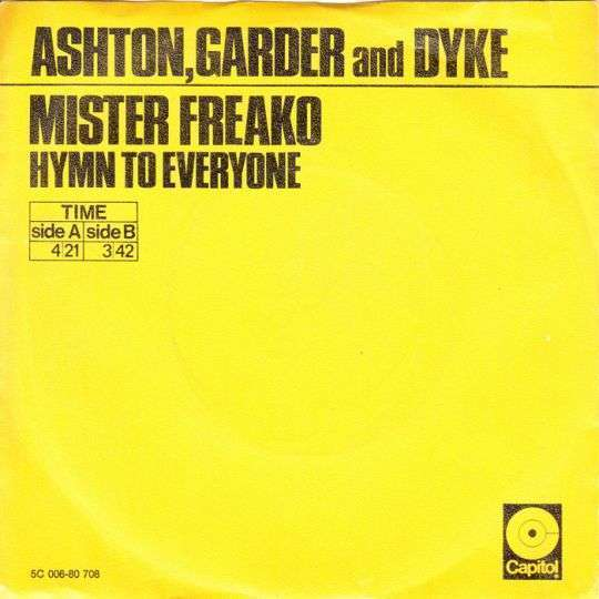 Coverafbeelding Mister Freako - Ashton, Garder And Dyke