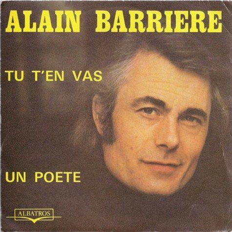 Songtext von Alain Barrière - Tu t'en vas Lyrics