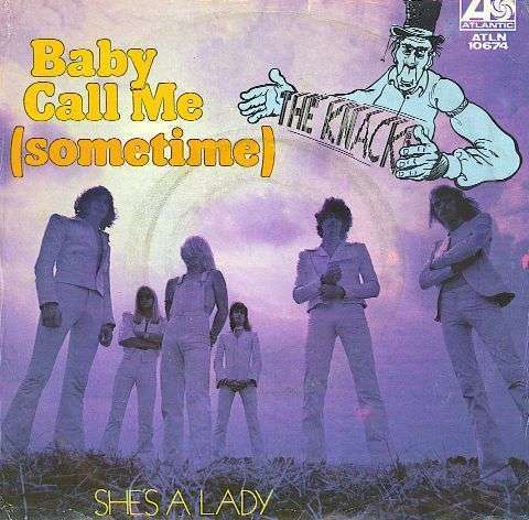 Coverafbeelding Baby Call Me (Sometime) - The Knack ((Nld))