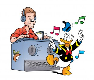 Ferry Corsten is Curry Worsten in Donald Duck